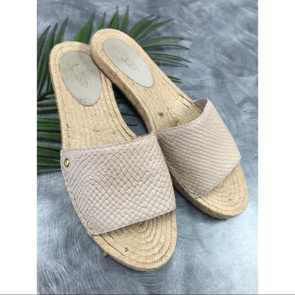 367198f01e0 UGG Espadrilles Sandals Flats Slides Beige